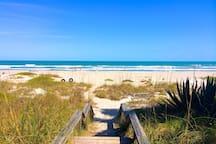 Private beach walkover