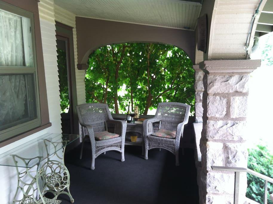 Relax on the shaded veranda