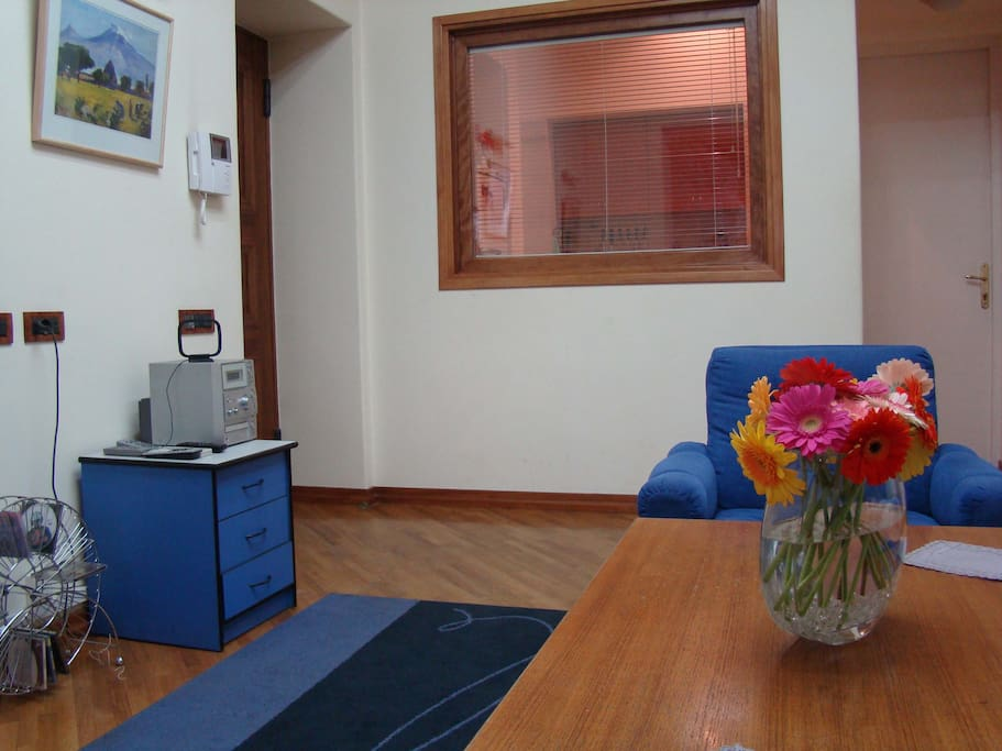 Living room, CD-radio player