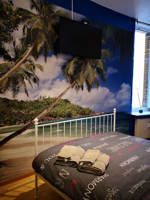 Nice beachview from your bed with cable television
