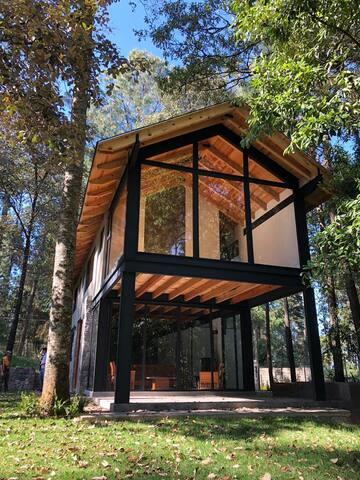 Casa nueva rodeada de bosque