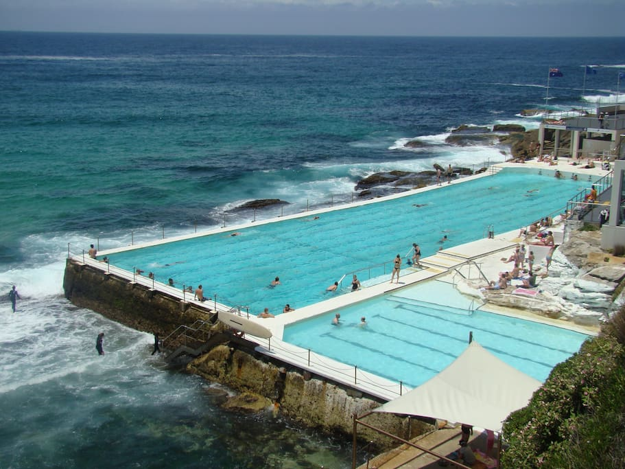 Bondi Icebergs ocean pool at South Bondi Beach. A few minutes stroll from the apartment.