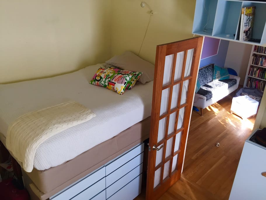 Double elevated Bed  with dresser
