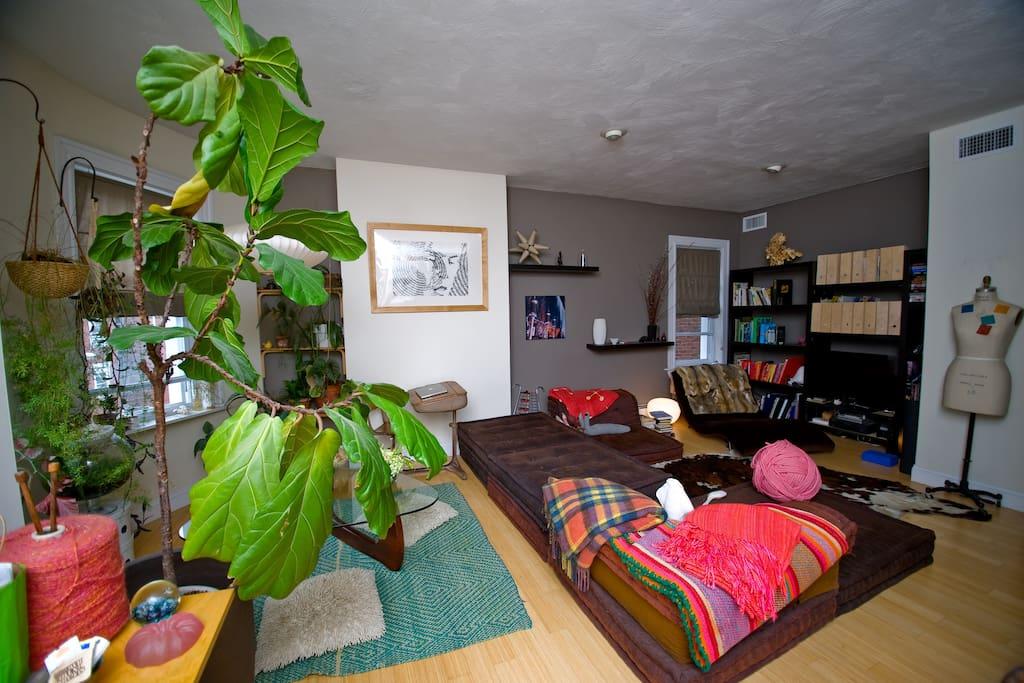 Main Living room - lounge  - LCD tv - roche bobois sofa -super relax zone