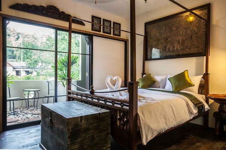 Green Room Double. Aircon - WIFI - Private Room. - Tambon Ao Nang - Bed & Breakfast
