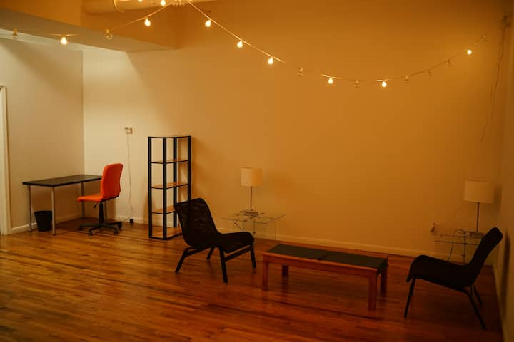 loft room; one block from Bedford L Subway