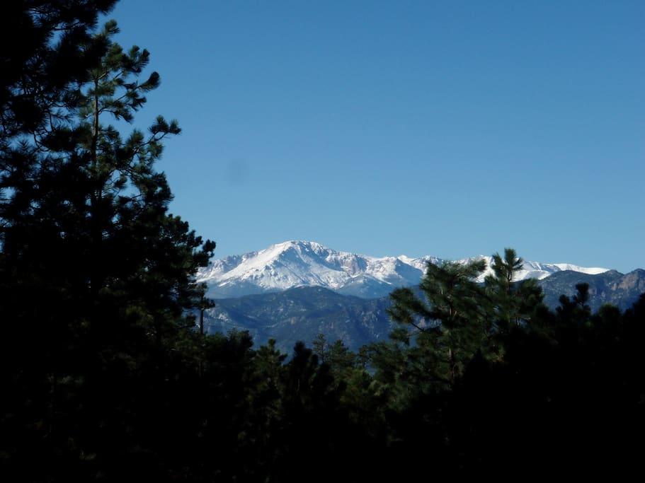 Beautiful views of Pikes Peak
