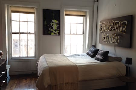 This historic 1800's brownstone has been gut renovated with attention to detail.   Flawless hard wood floors and spacious 10 foot ceilings in the heart of the West Village.   With close proximity to the trendy Meatpacking district and a block from the famed High Line.   All transport very nearby.