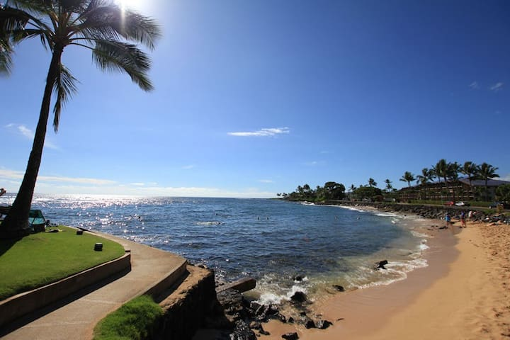 Prime Beach front location Kauai - Koloa - Appartement en résidence