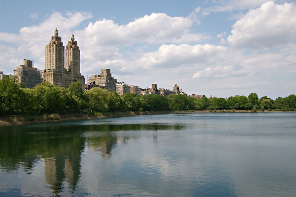 Gaze upon The Reservoir in Central Park, which is short walking distance from the building.