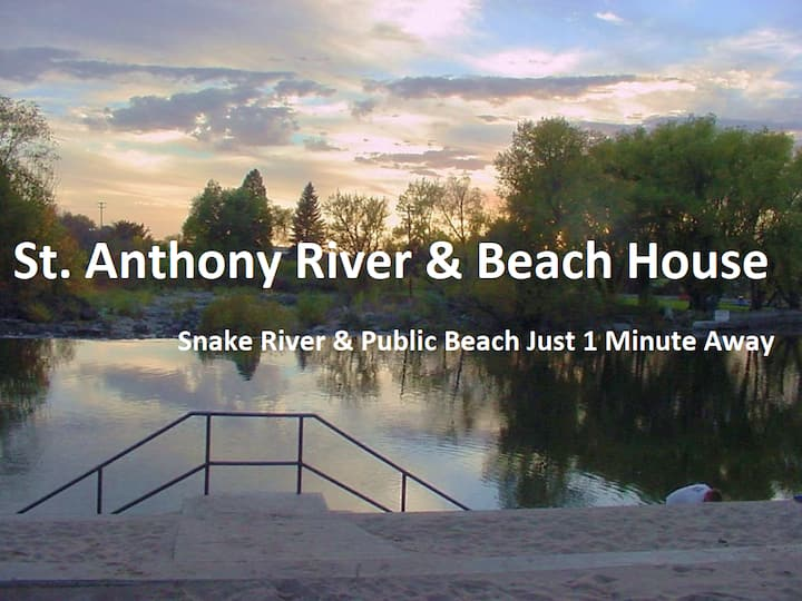 Henry's Fork River & Beach House (Kayaks Too!)