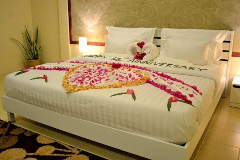 Our comfortable double beds feature in all rooms.