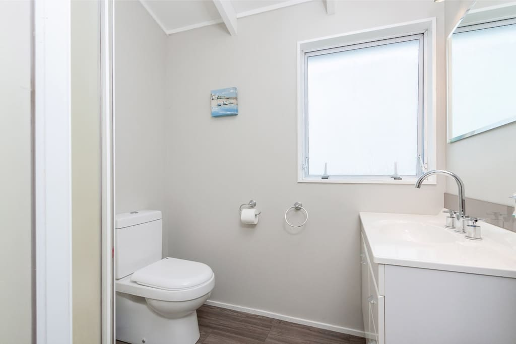 Shared ensuite with upstairs bedrooms