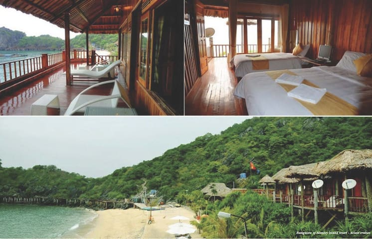 Halong Bay Deluxe cruise & bungalow - Halong - Cabane