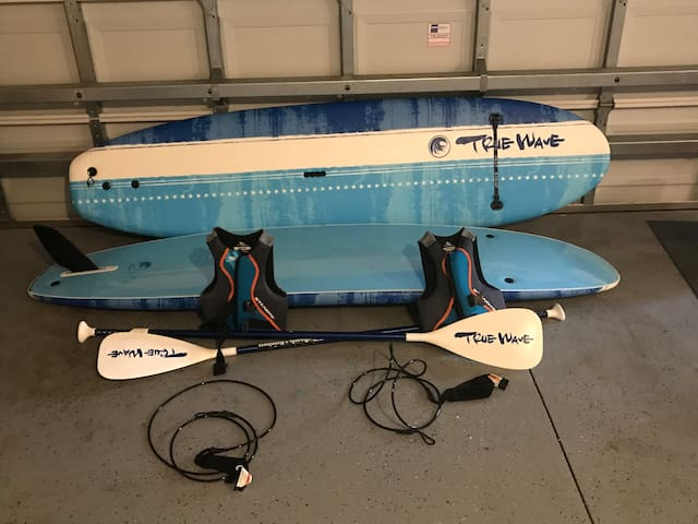 Still looking for adult boards but just added 2 kids paddle boards and life jackets