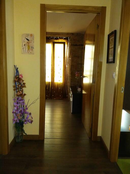 entrada dormitorio y entrada salon