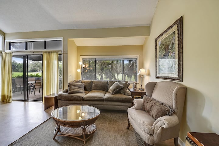 two bedroom, two bathroom unit with views of the renowned, first class George Fazio golf course