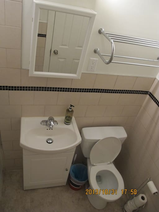 You have your own bathroom which has been fully renovated.