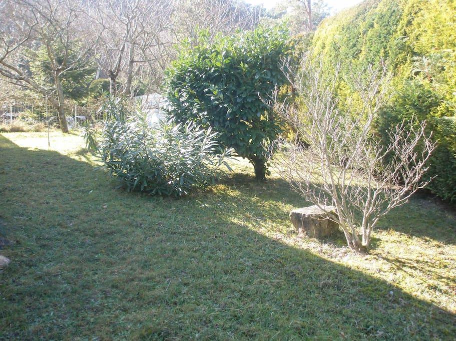 jardin privatif agréable et arboré