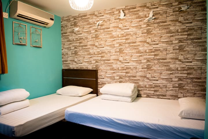 Private Twin Bed room for Max 3 ppl - Hong Kong - Apartment