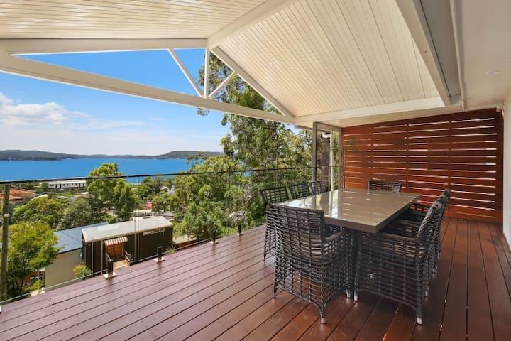 Stunning home with panoramic water views
