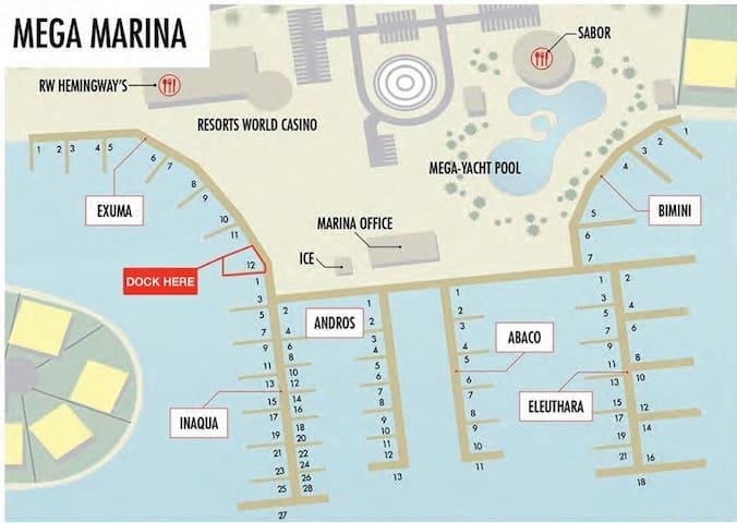 Boat Slip Exuma 12 Mega Yacht Marina 50 Ft