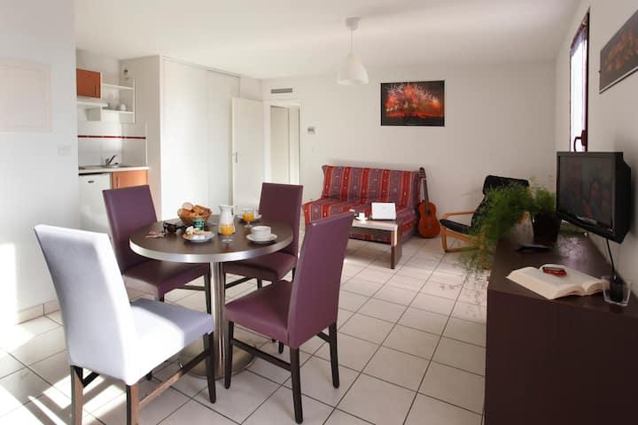 Appartement 1 chambre de 30m² au pied des remparts de Carcassonne