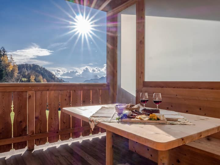 """Beautiful Holiday Apartment """"Morgengruß """" near Seiser Alm with Mountain View, Wi-Fi & Balcony; Parking Available"""