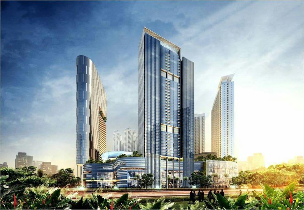 2 Bed Apartment On Top Pakuwon Mall Surabaya City