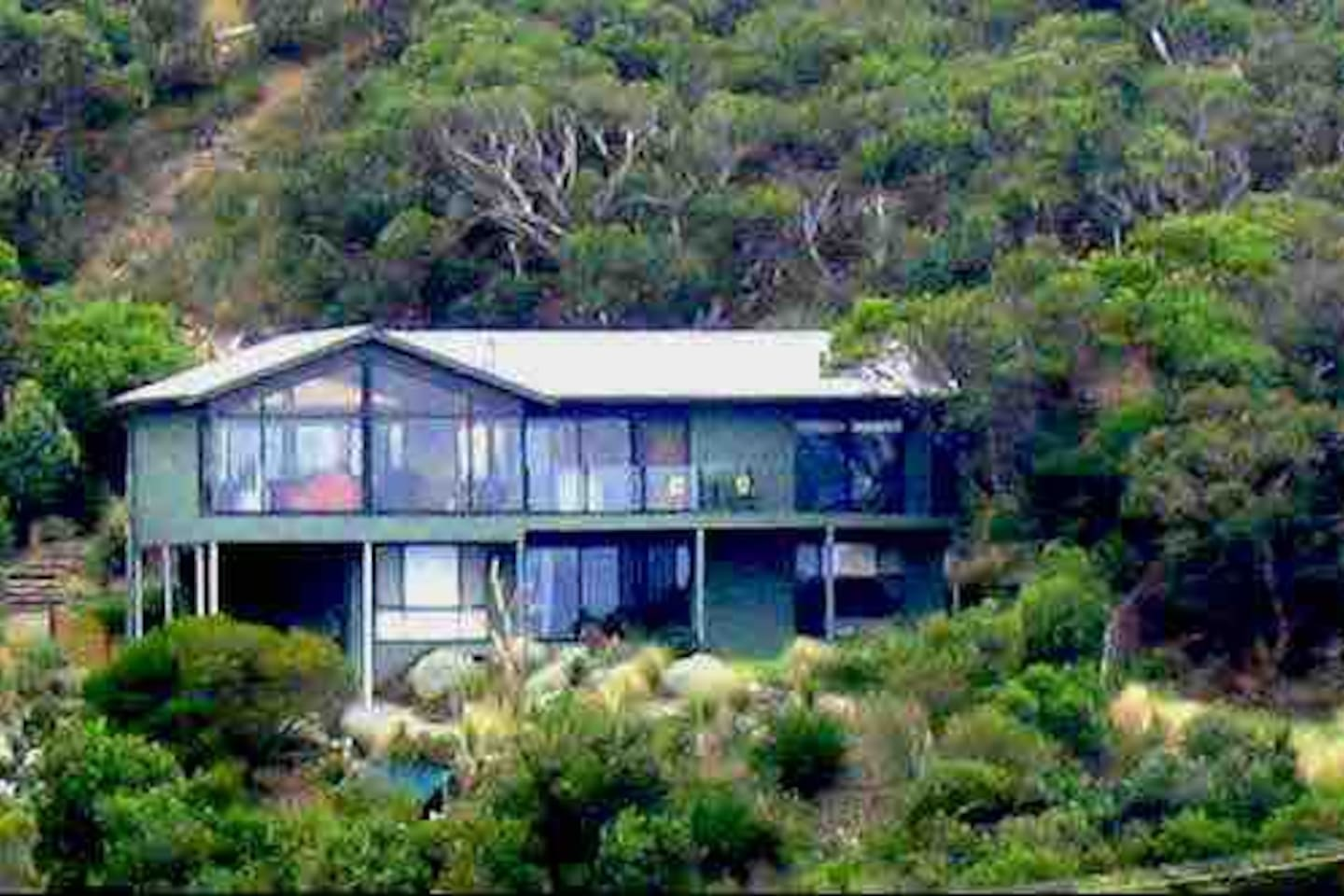 Hillside location gives fabulous ocean and bush views from all rooms