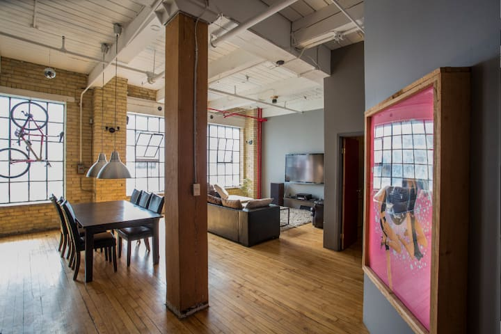 Authentic hard Loft in core of downtown Toronto