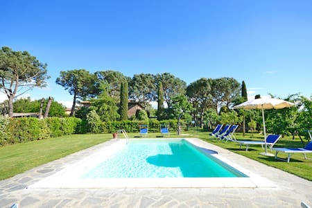 Casa i Pini for 9 persons with garden and pool - Cortona - Dom