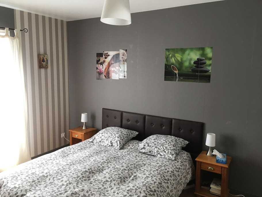 Chambre 1 ( lit 2 personnes ou 2 lits une personne )