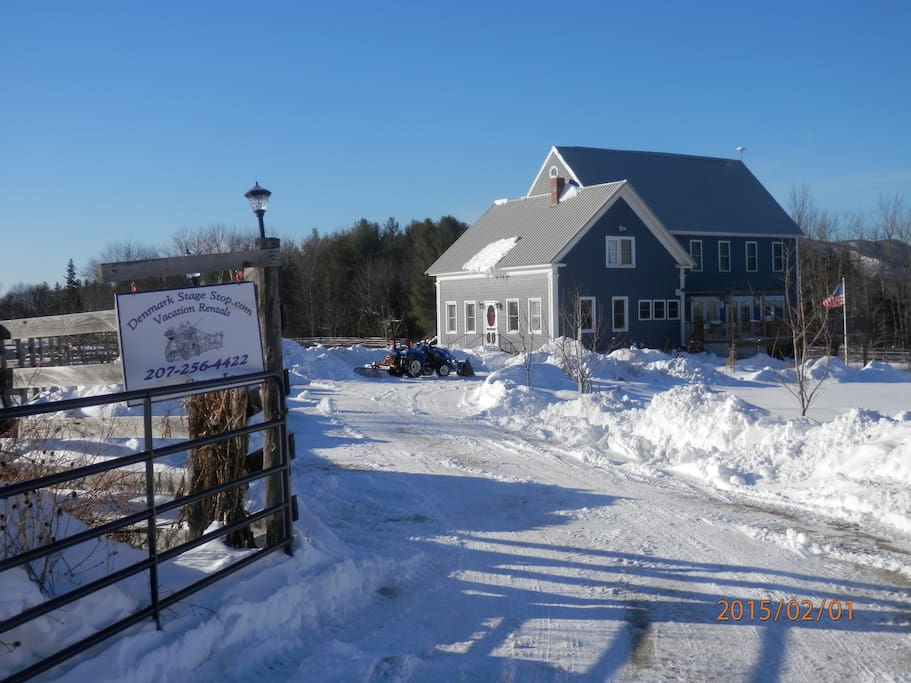 Welcome - whether you are here to ski or snowboard at Shawnee Peak Ski Resort, snowshoe, cross country ski or snowmobile - The Denmark Stage Stop House has the perfect accommodations for family and friends to enjoy the winter months in Maine.