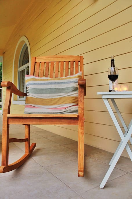 Enjoy sitting outside on the front porch