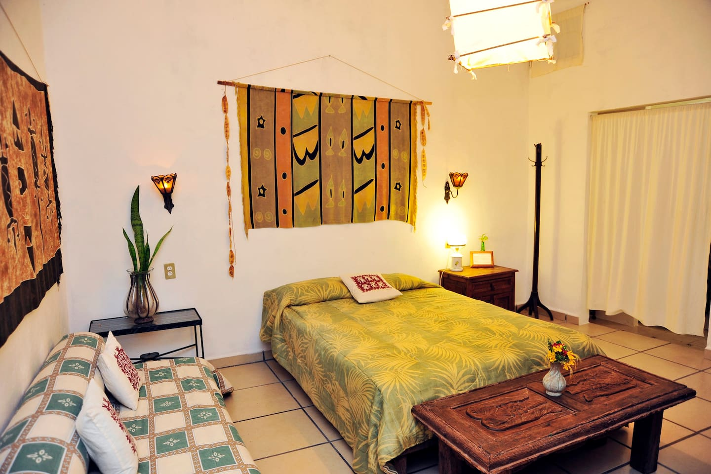 Casitas Kinsol Guesthouse in Puerto Morelos - near Cancun - Room #5 - A full-size bed and a sofa that converts in a