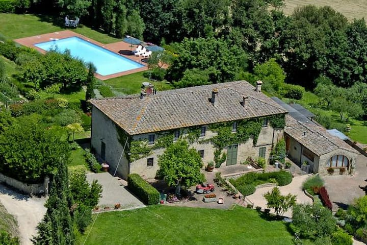 Chianti Romantic 8people big Flat with Pool - Poggibonsi
