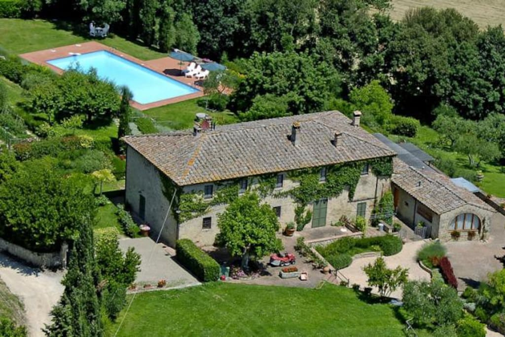 Our Property in the heart of Chianti but close to Siena, Monteriggioni and San Gimignano!