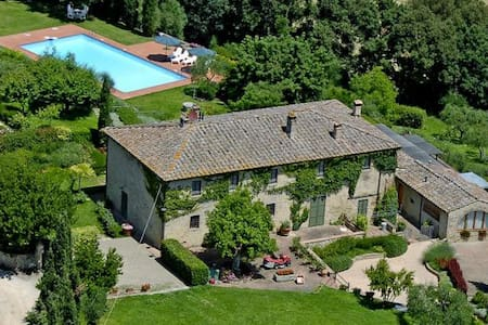 Chianti Romantic 8people big Flat with Pool - Poggibonsi - Casa