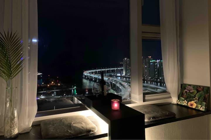 🌇Busan/Haeundae 🌆Luxury+Ocean View=Best Stay
