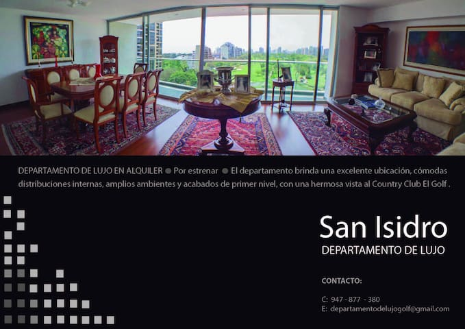Alquiler Departamento de Lujo - San isidro - Daire