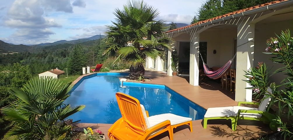 GARDELOUP with pool and great view - Olargues - Casa