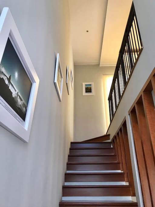 Our photo gallery along the stairs