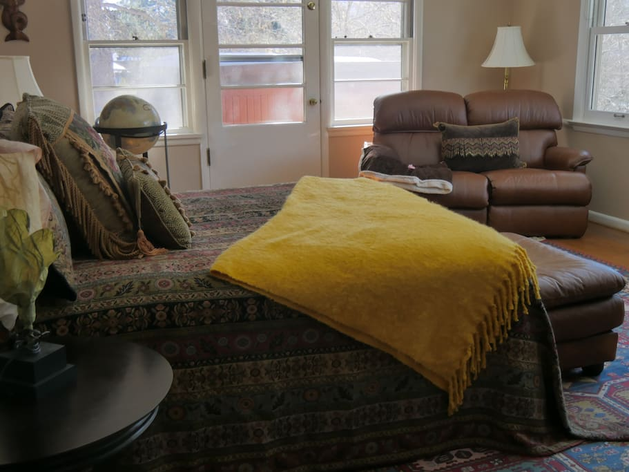 Master suite, very private and spacious with comfortable bed...