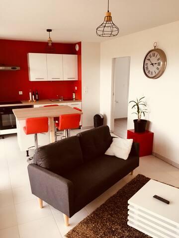 T2 cosy et lumineux dans résidence privée