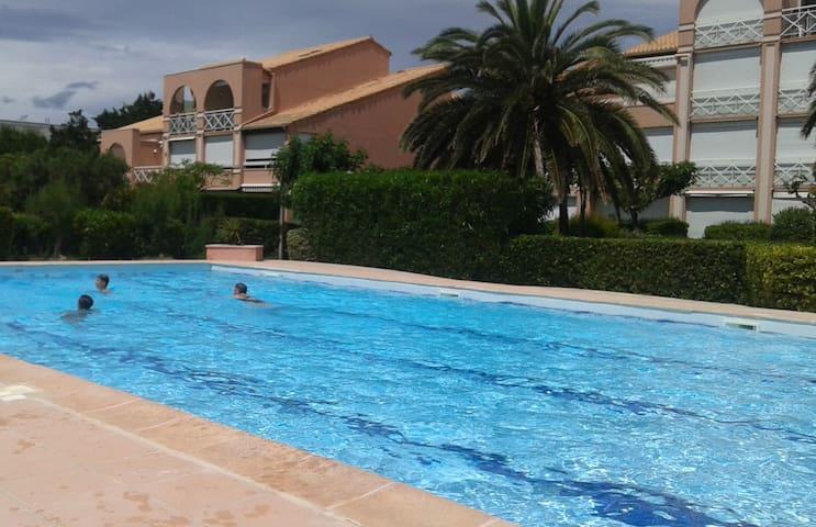 appartement 2pièces   tres proche plage .  piscine - Palavas-les-Flots - Кондоминиум
