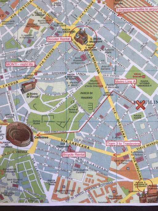 Colosseum is at 10' walking distance from Ferruccio apartment