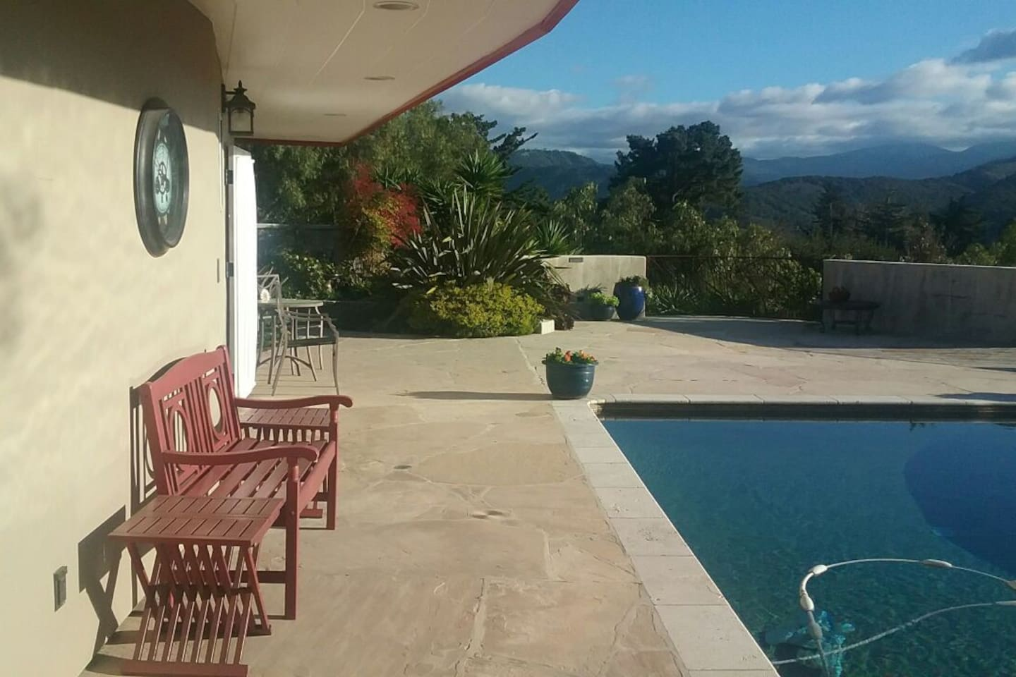 Your suite is on the left, and looks out over Carmel Valley.