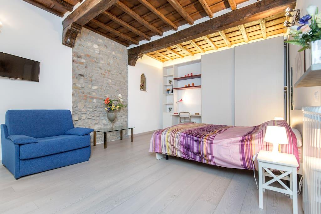 bedroom + sofa bed