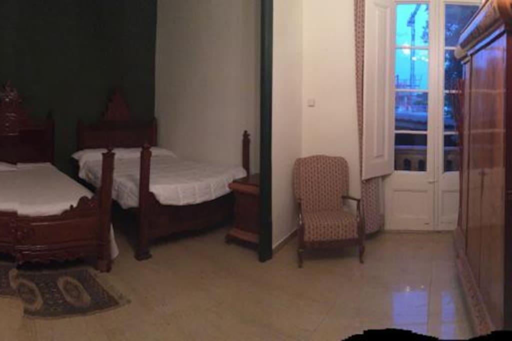 Habitacion con dos camas dobles